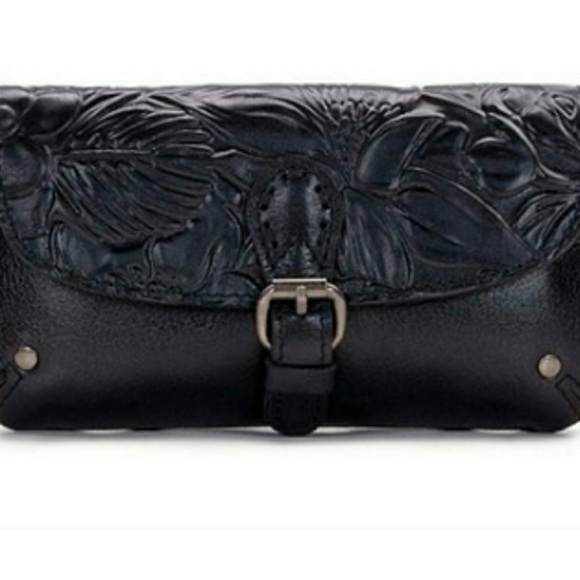 Patricia Nash Leath Black Tool Fanny Pack Belt Bag